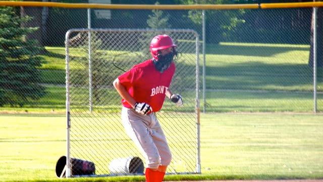 Members of the Toreador baseball team are pictured here at their first practice on June 1, held at Memorial Park. Photo by Andy Heintz