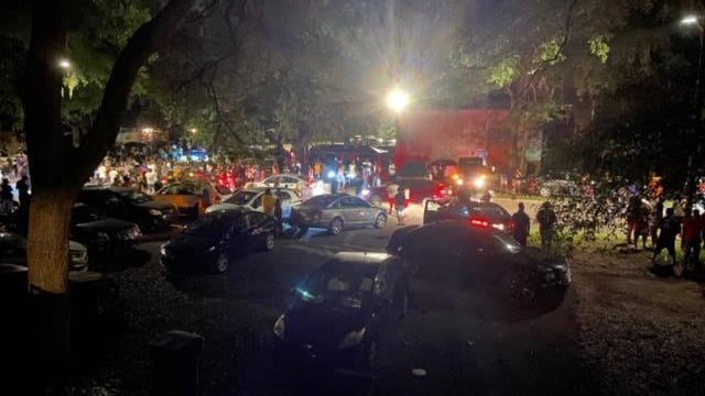 A block party takes place in the Cedar Ridge neighborhood, in the 6700 block of Southwest Fifth Place in Gainesville, Saturday night. Deputies broke up the scene in the early morning hours Sunday and responded to shots fired in a nearby neighborhood. No injuries were reported.