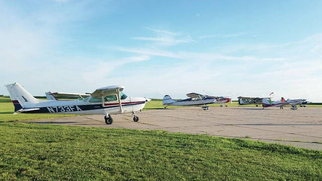 On Tuesday, June 30, Rep. Cindy Axne (IA-03) announced nearly $815,000 in new federal grants to fund repairs at Creston Municipal Airport and Perry Municipal Airport. PHOTO BY ALLISON ULLMANN/THE PERRY CHIEF