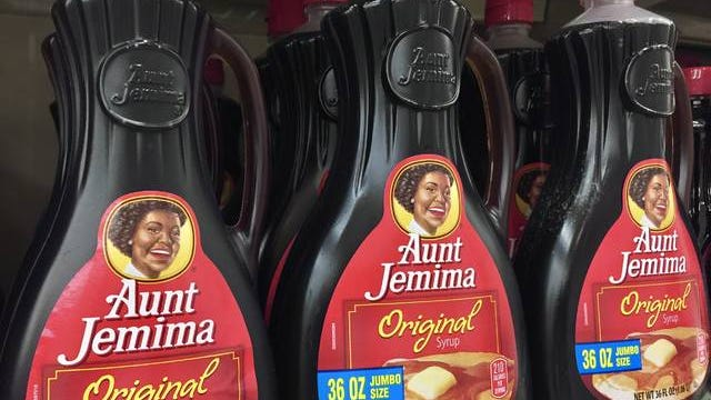 Aunt Jemima syrup in the grocery store. Dreamstime/TNS