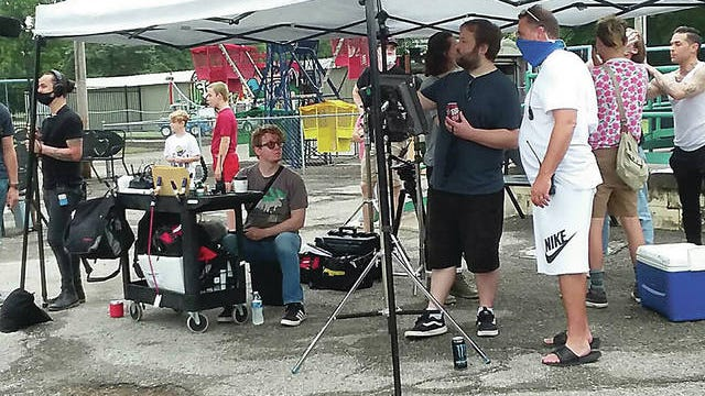 """Movie crews spent two days filming parts of """"Joey and Ella"""" at Kiddie Park in Bartlesville. COURTESY"""