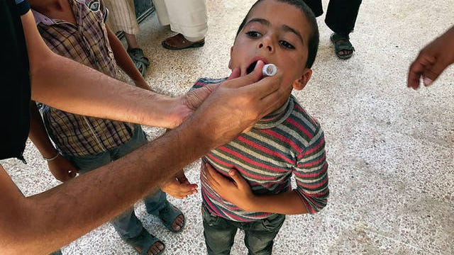 Children living in Raqqa, Syria, were immunized to rapidly raise population immunity, and in an attempt stop the virus in its tracks.