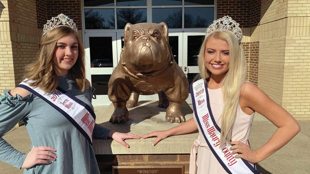 Miss Maury County 2019 Kayla Gibson, right, and Miss Maury County Teen 2019 Lillie Butler will be crowning their successor Saturday night at the 2020 pageant at Columbia Central High School. Gibson is a 2019 Columbia Academy graduate who was crowned the 2020 Mule Day queen Feb. 28. Butler is a junior at CA. The competition, sponsored by the Columbia Lions Club, starts at 6 p.m. and includes seven age divisions. The Miss Maury County winner receives a $500 scholarship at the end of her year of service. Tickets for spectators will be available for $5 at the door. Contestants interested in competing should contact Debbie Coleman at (615) 415-3309.