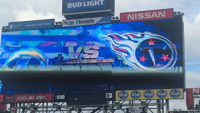 Chargers visit to Nissan Stadium in 2016 to open NFL preseason for Titans.