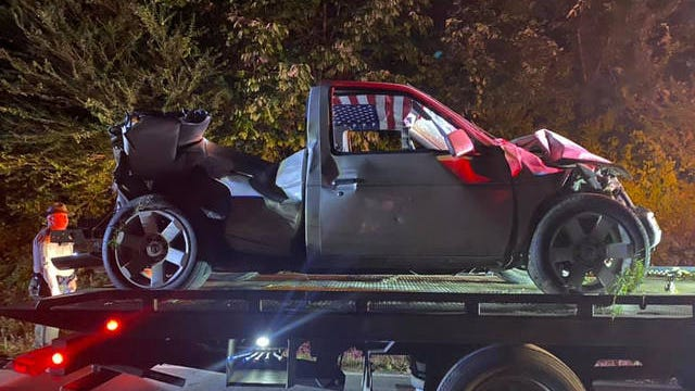 Two patients were airlifted in critical condition after being ejected from a pickup truck in rural Maury County overnight on Wednesday.