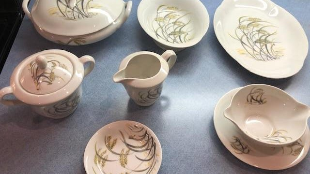 This china set was bought in 1955 by a reader's neighbor while in the Navy in France.