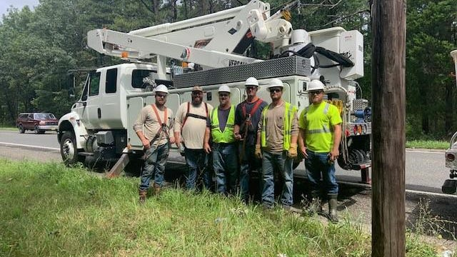 Members of the Dover Electric Field Division recently traveled to New Jersey to provide assistance after Hurricane Isaias.