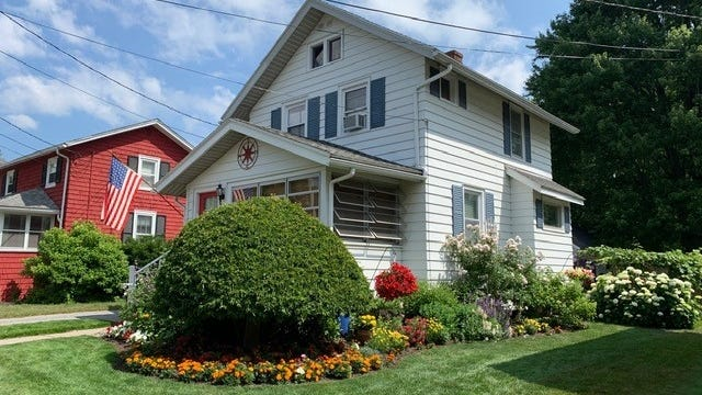 This home on North Pleasant Street, Canandaigua, is part of the Ontario County Historical Society's upcoming garden tour.