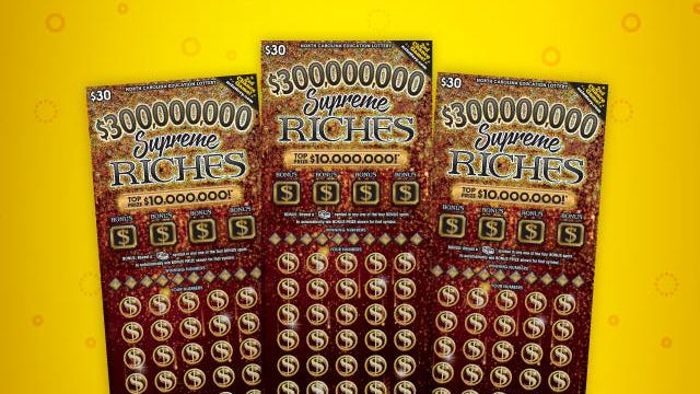 Supreme Riches lottery tickets.