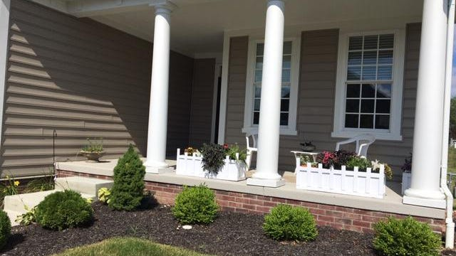Joel Toplosky and his wife Barbara, both 72, recently moved into a new 55+ community in New Albany. To pass the time at home, and to make the outdoor space more pleasant, Joel designed and built three new planter boxes for the couple's front porch.