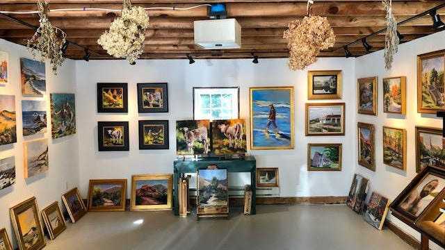 Ric Della Bernarda reopens his studio in Ogunquit at 257 Berwick Road.