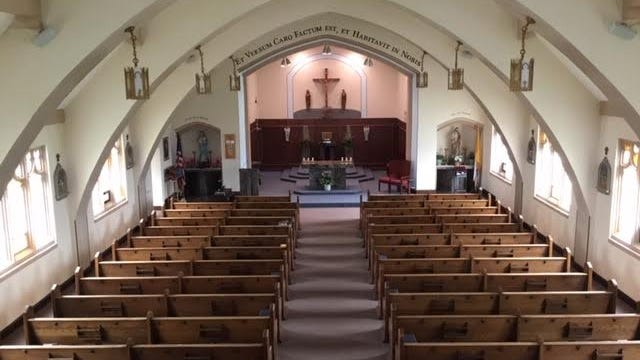 A look at the sanctuary in the St. John's Catholic Church. The structure was demolished earlier this year.