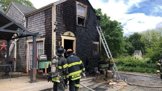 A historic Westport home at 625 Sanford Road was damaged in a fire on Monday, June 1.