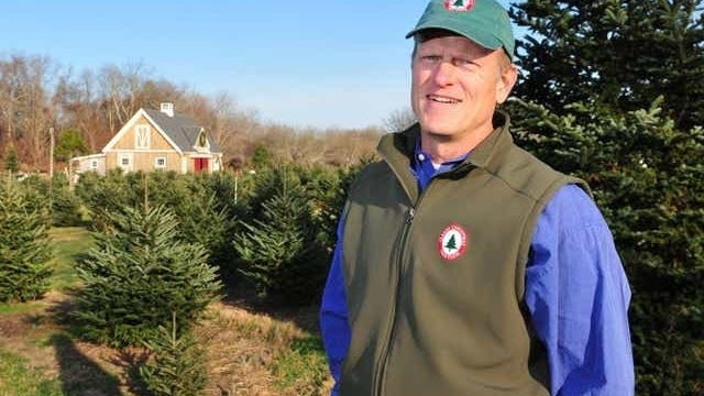 Clark's Christmas Tree Farm owner Eric Watne of Tiverton.