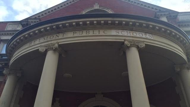 Belmont Public Schools administration building.