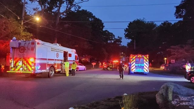 The Whitman Fire Department and a state hazardous materials team responded to a home on Hilltop Road after a man injured himself while mixing pool chemicals, Tuesday, June 30, 2020.
