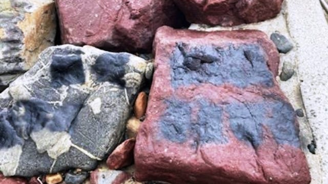 Swampscott Police Department reported a rash of racist and hate-filled speech and symbols found spray painted on a walkway as well as along a section of the rocky seawall at Preston Beach Park on Wednesday afternoon.