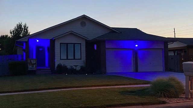 Kathy Allison of McPherson is giving a way blue lights to use to remember her son and show support for law enforcement.