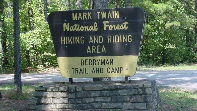 Mark Twain National Forest headquartered in Rolla.