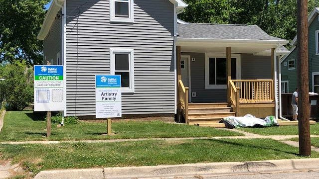 An $18,000 donation from the Wells Fargo Foundation will help Habitat for Humanity of Lenawee County complete the build of this house at 1121 E.  Butler St. in Adrian.