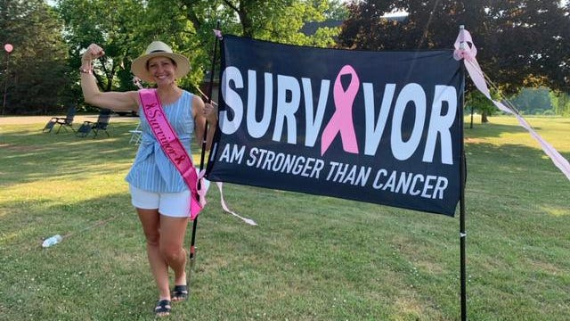 Jennifer Poupard, a teacher at Monroe High School, recently completed her chemotherapy treatment. Supporters celebrated with a parade.