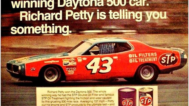 Andy Granatelli's STP sponsorship of Richard Petty that began in 1972 could well be Granatelli's most famous auto racing and consumer branding effort. However, his winning the Indy 500 with Mario Andretti in 1969 is his most famous single achievement thanks to the victory lane kiss photo that went worldwide.