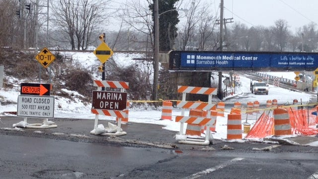 Construction on Hubbard's Bridge on West Front Street in Red Bank has diverted drivers from local businesses.