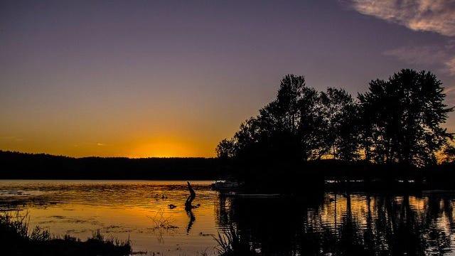 Crystal Beach sunset at Lake Bomoseen