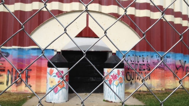 The city has closed a Camden water tower for repairs for four months, leaving the Sophisticated Sisters drill team in search of a new practice facility.