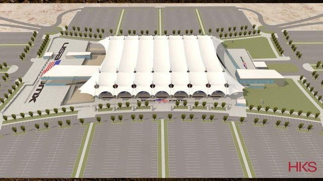 Rendering of proposed USA BMX headquarters and race track in Gilbert