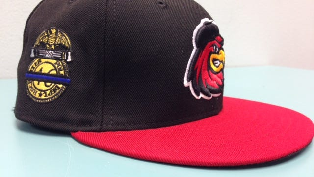The caps the Rochester Red Wings will wear for Saturday's home opener have a special logo honoring the Rochester Police Department.