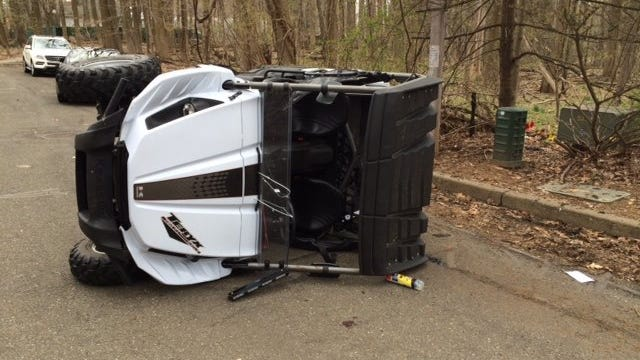 A teenager was injured after flipping an ATV in Monsey on Friday afternoon.