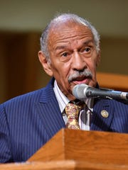 """""""I'm not giving up. Slavery is a blemish on this nation's history, and until it is formally addressed, our country's story will remain marked by this blight,"""" John Conyers said in 2017 shortly before he was forced to resigned from Congress after facing allegations of sexual harassment."""