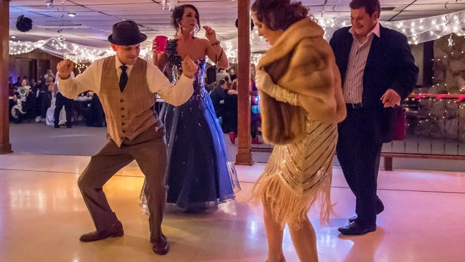 Kyle Labrecque and Laura Markin tear up the dance floor at the first Prom for Adults held in February.