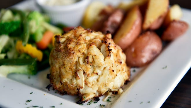 The single crab cake plate at Big Jim's Seafood House is shown Wednesday, Sept. 21, 2016, in Springettsbury Township. Big Jim's Seafood House held its grand opening at the end of August.
