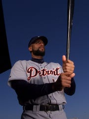 Tigers first baseman Tony Clark.