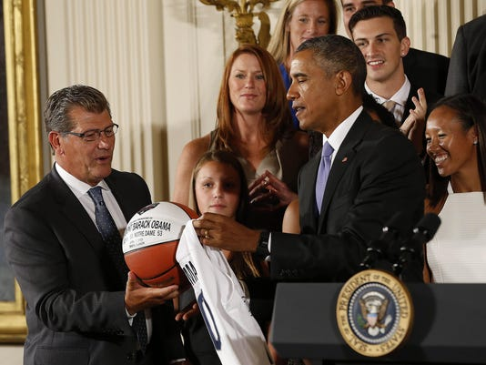 NCAA Womens Basketball: Conecticut White House Visit