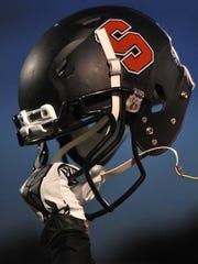 Sonora Broncos team helmet