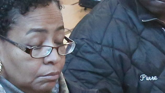 Ramapo Councilwoman Brendel Logan Charles is pictured in this file photo at a February press conference.