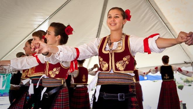 Natalija Staletovic performs with the Serbian folk dance group Gavrilo Princip who are scheduled to perform during Serb Fest.