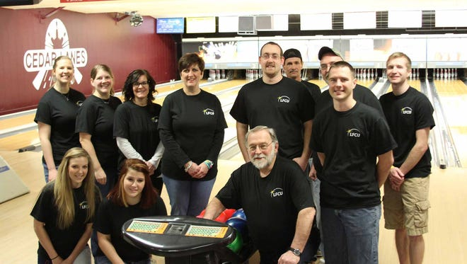 Lebanon Federal Credit Union sponsored Bowl for Kids' Sake in March, raising over $800 toward Big Brothers Big Sisters. LFCU also had two teams bowling in the event, which was held at Cedar Lanes in Lebanon. LFCU bowlers are, back row from left, Marta Wolford, Joy Pastal, Wendy Kalbach, Angela Light, Daniel Wolford, Jerry Light, Tony Filingeri, Joseph Strickler. front row from left, Alaina Smith, Amber Britto, Thomas Snavely and Chris Pastal. This was LFCU's second year sponsoring the event. 'Supporting Big Brothers Big Sisters, which is the largest and most effective youth mentoring organization of the Capital Region, is a great way to change lives for the better,' Wendy Kalbach, LFCU's director of community and business development, said in a news release. 'It helps us live out the credit union mission and grow our relationships in the community.'