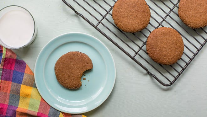 This September 2016 photo shows chewy molasses cookies in New York. This dish is from a recipe by Katie Workman.