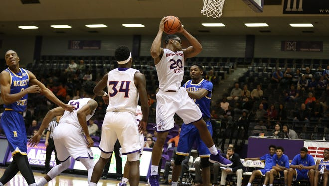 NSU's Ishmael Lane led the Demons with 14 points, seven rebounds, three blocked shots and two steals but missed 10 of the final 20 minutes.