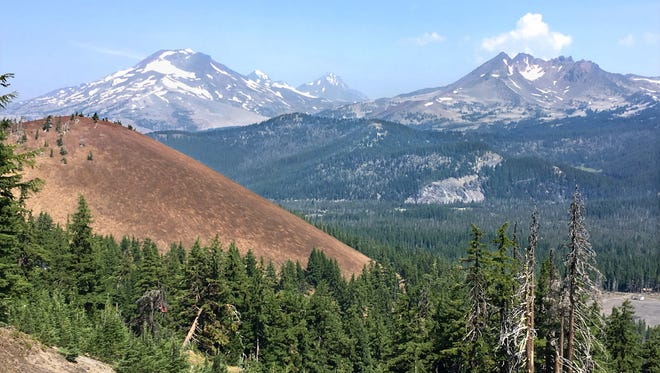 Mt. Bachelor's view of Sisters and Broken Top from the Pine Marten chairlift.