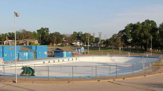 The Ellis Kenny Municipal Pool has no water yet, a result of delayed opening because of the COVID-19 virus. However, Pratt city commissioners have approved a pool-opening day for June 15, 2020, and the facility will soon be full of water, and happiness.