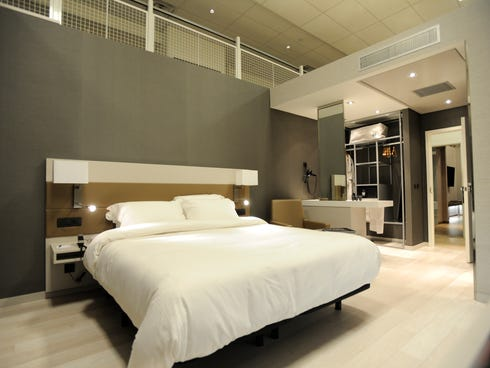 Marriott Hotels has two full-scale model rooms for their AC Hotels by Marriott chain built in the company's Innovation Lab. AC Hotels by Marriott is a European chain the Marriott plans to bring to the U.S.