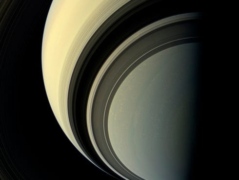 This July 29, 2013, photo shows winter in the southern hemisphere of Saturn. No giant earwigs are evident. Predicting interest rates is about as hard as predicting an invasion of giant earwigs from Saturn.