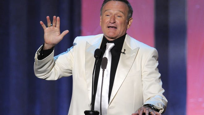 CULVER CITY, CA - JUNE 10:  Actor Robin Williams speaks onstage during the 38th AFI Life Achievement Award honoring Mike Nichols held at Sony Pictures Studios on June 10, 2010 in Culver City, California. The AFI Life Achievement Award tribute to Mike Nichols will premiere on TV Land on Saturday, June 25 at 9PM ET/PST.  (Photo by Kevin Winter/Getty Images for AFI)