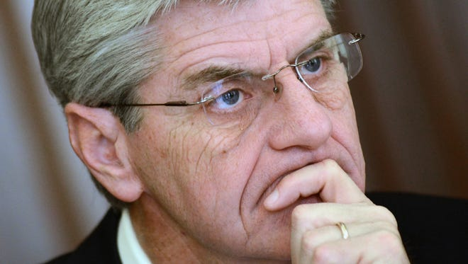 Gov. Phil Bryant meets with The Clarion-Ledger Editorial Board.