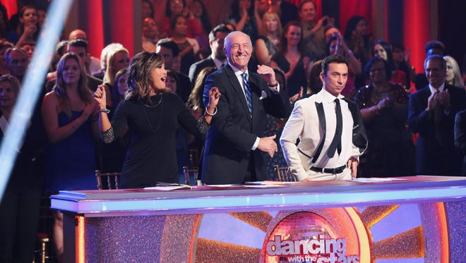 Judges Carrie Ann Inaba, Len Goodman and Brunio Tonioli